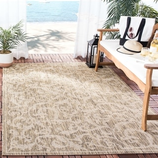 Safavieh Mayaguana Brown/ Natural Indoor/ Outdoor Rug (9' x 12')