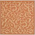Safavieh Mayaguana Terracotta/ Natural Indoor/ Outdoor Rug (7'10 Square)