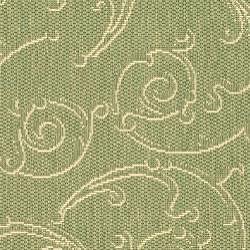 Safavieh Indoor/ Outdoor Oasis Olive/ Natural Rug (2'7 x 5')