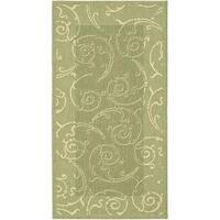 Safavieh Oasis Scrollwork Olive Green/ Natural Indoor/ Outdoor Rug - 2'7 x 5'