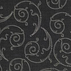 Safavieh Oasis Scrollwork Black/ Sand Indoor/ Outdoor Rug (7'10 Square) - Thumbnail 2