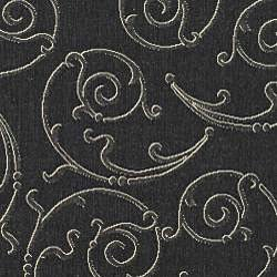 Safavieh Oasis Scrollwork Black/ Sand Indoor/ Outdoor Rug (9' x 12') - Thumbnail 2