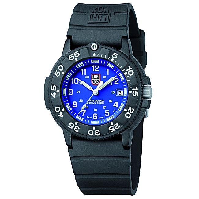 Luminox Original Navy Seal Blue Dial Black Rubber Strap Watch
