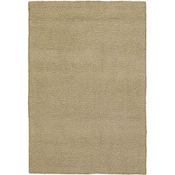 Artist's Loom Hand-woven Contemporary Solid Wool Rug (1'6x2'3)
