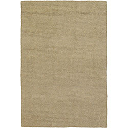 """Artist's Loom Hand-woven Contemporary Solid Wool Rug (1'6x2'3) - 1'6"""" x 2'3"""""""