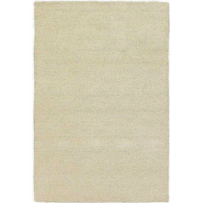 Artist's Loom Hand-woven Contemporary Solid Wool Rug (2'x3')