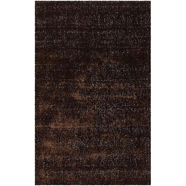 Artist's Loom Hand-woven Shag Rug - 5' x 8'