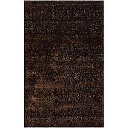 Artist's Loom Hand-woven Shag Rug - 5' x 8' - Thumbnail 0