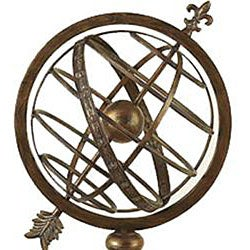 Engraved Metal Armillary Nautical Sphere Globe - Thumbnail 1