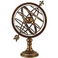 Engraved Metal Armillary Nautical Sphere Globe