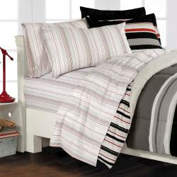 Newport Grey Full-size 7-piece Bed in a Bag with Sheet Set - Thumbnail 2