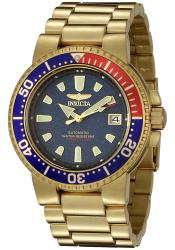 Invicta Men's Pro Diver 18k Gold-plated Blue Dial Automatic Watch