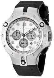 Nautica Men's Chronograph Black Rubber Strap Watch - Thumbnail 1