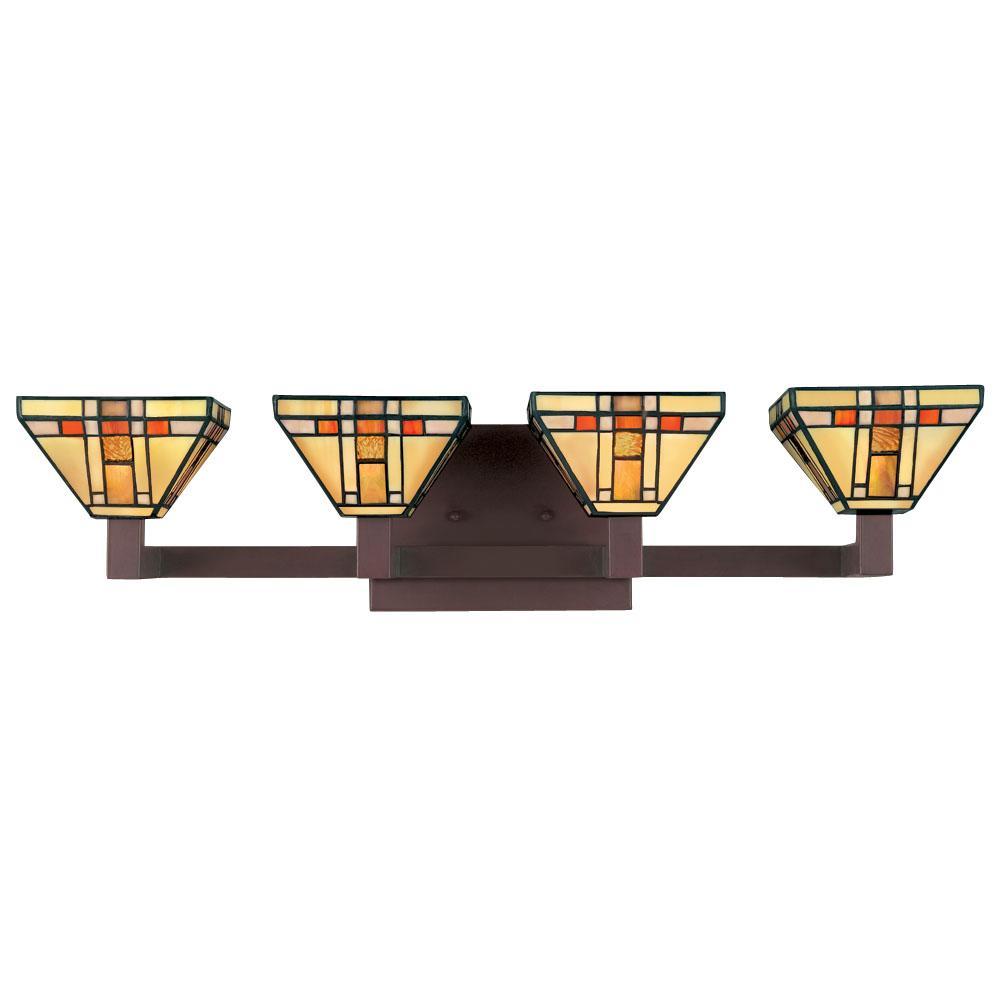 Tiffany Style 4 Light Bath Fixture Free Shipping Today 11349785