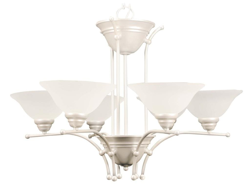 Pearl Mist 6-light Chandelier with Alabaster Glass