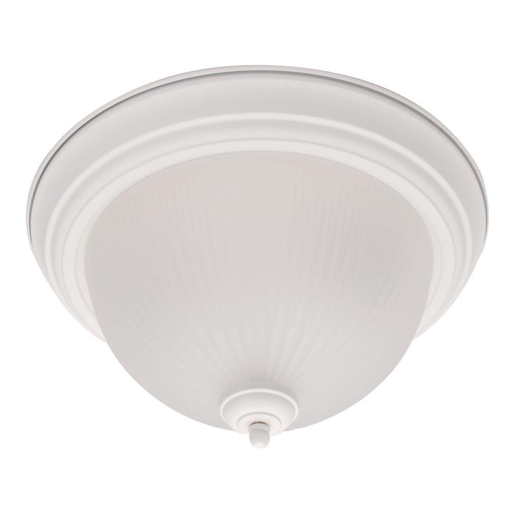 White 1-light Flush Mount Ceiling Fixture
