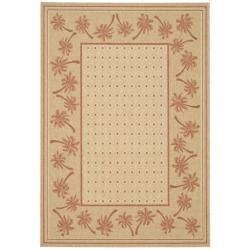 Safavieh Courtyard Palm Tree Ivory/ Rust Indoor/ Outdoor Rug - 5'3 x 7'7 - Thumbnail 0