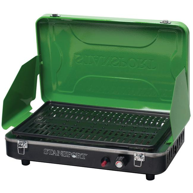 Stansport Green Propane Grill Stove with Piezo Ignition