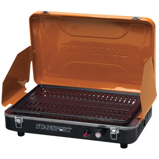 Stansport Orange Propane Grill Stove with Piezo Ignition