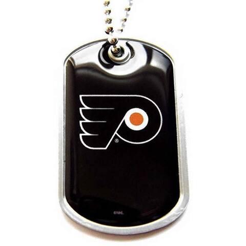 NHL Philadelphia Flyers Charm-chain Dog Tag Necklace
