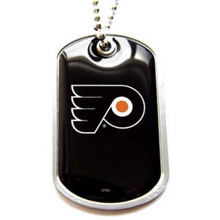NHL Philadelphia Flyers Charm-chain Dog Tag Necklace