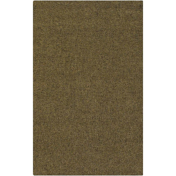 Artist's Loom Hand-knotted Contemporary Solid Wool Rug (8'x10') - 8' x 10'