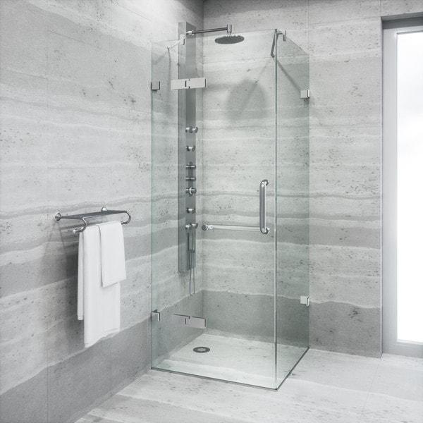 VIGO Frameless Square Clear Shower Enclosure (32 X 32)   Free Shipping  Today   Overstock.com   12697703