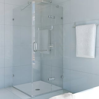Vigo Frameless Square Clear Shower Enclosure (36 x 36)