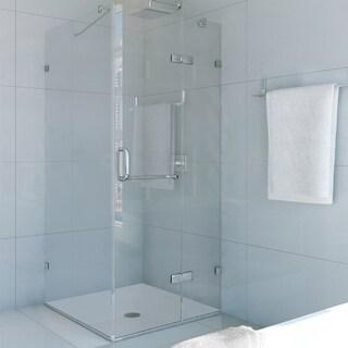 VIGO Frameless Square Clear Shower Enclosure (36 x 36)