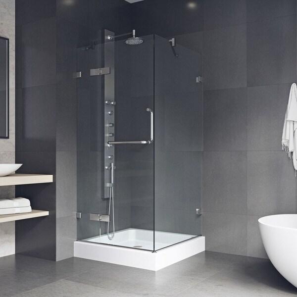 Shop VIGO Monteray Frameless Shower Enclosure With Base (36 x 36