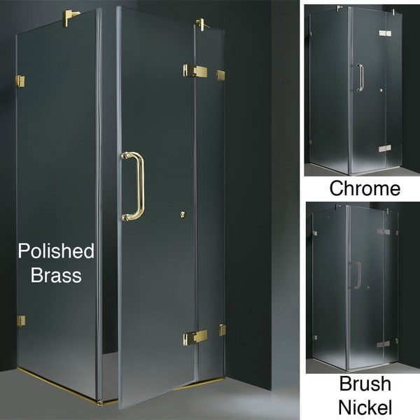 VIGO Frameless Frosted Shower Enclosure (36 x 36)