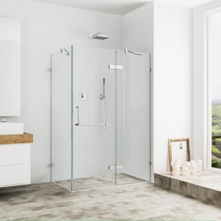 VIGO Frameless Clear Shower Enclosure (32 x 40)