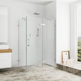 vigo frameless clear shower enclosure 32 x 48