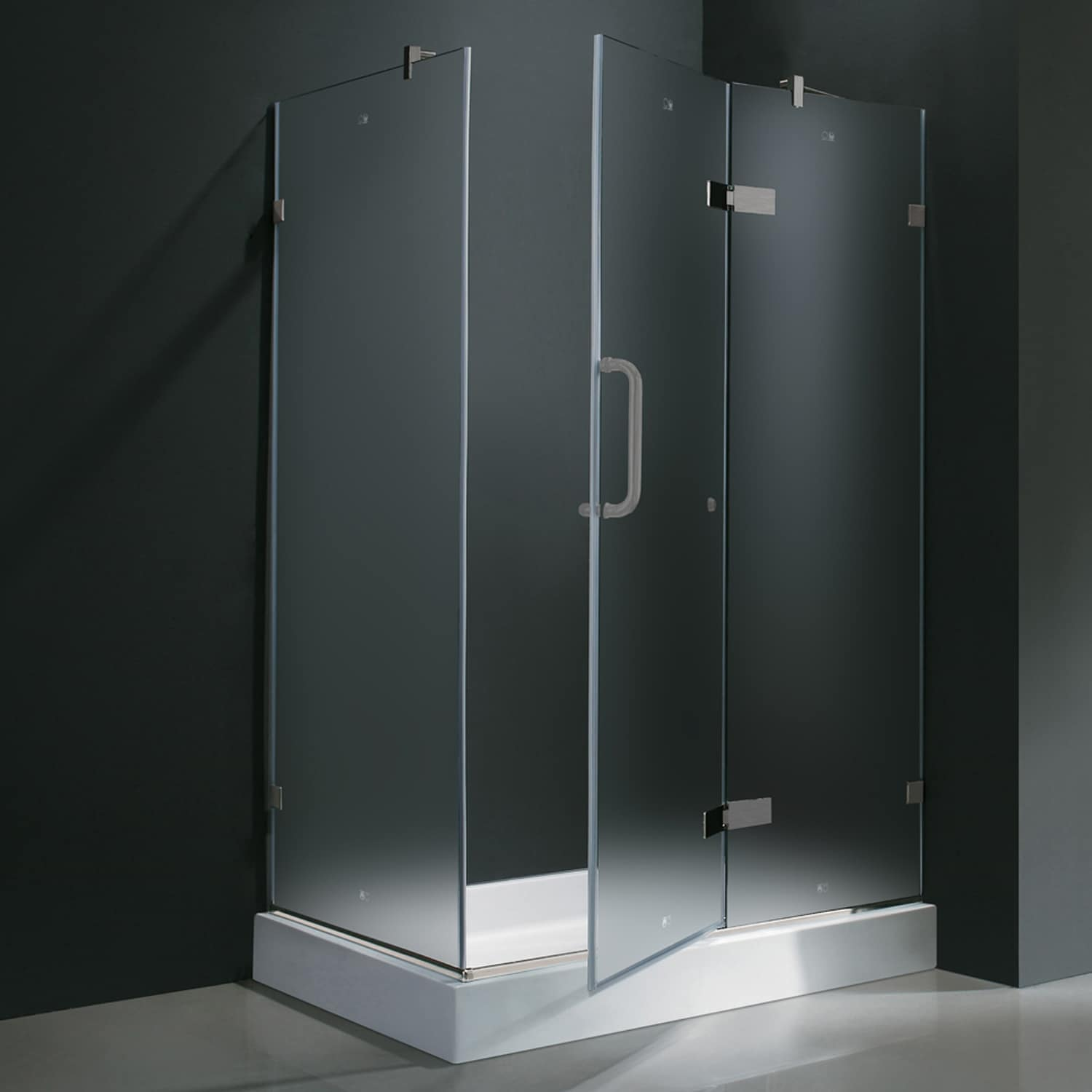 Vigo Frameless Frosted Shower Enclosure With Right Door Base 32 X 40