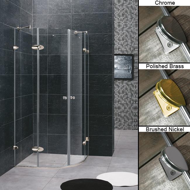 """VIGO 36 x 36 Frameless Neo-Round 1/4"""" Clear Shower Enclosure"""