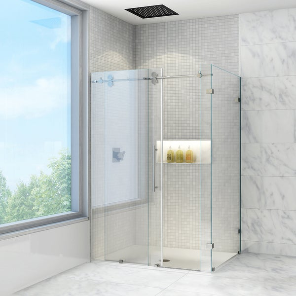 Beau VIGO 36 X 48 Frameless Clear Shower Enclosure
