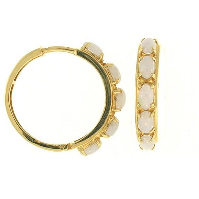 Mason Kay 14k Yellow Gold Lavender Jadeite Jade Multi-stone Half-hoop Earring