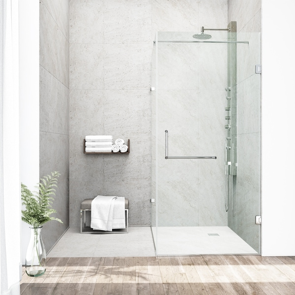 Delicieux VIGO Frameless Clear Shower Enclosure (36 X 48)