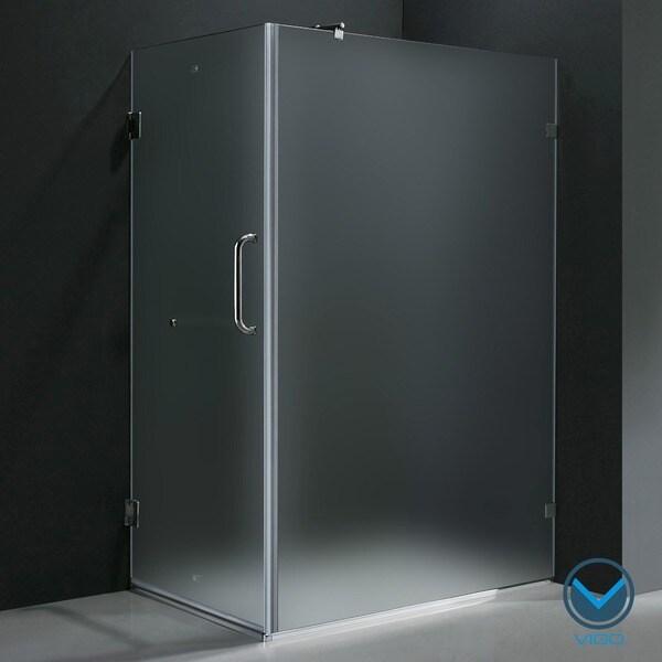 """VIGO 36 x 48 Frameless 3/8"""" Frosted Shower Enclosure"""