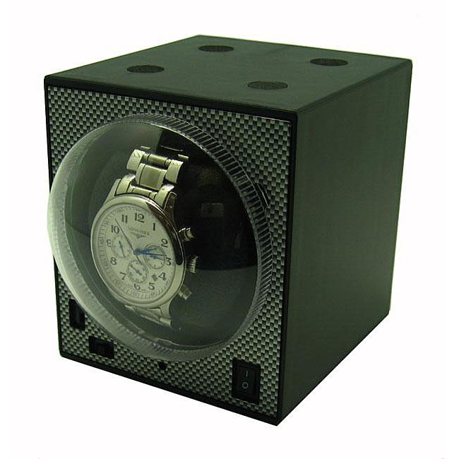 Compact Stackable Boxy Watch Winder with Power Adapter - Thumbnail 0