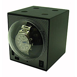 Compact Stackable Boxy Watch Winder with Power Adapter