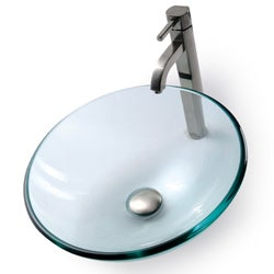 KRAUS Glass Vessel Sink with Ramus Faucet - Thumbnail 2
