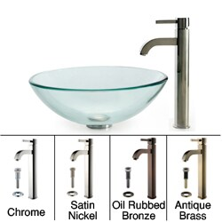 KRAUS Glass Vessel Sink with Ramus Faucet