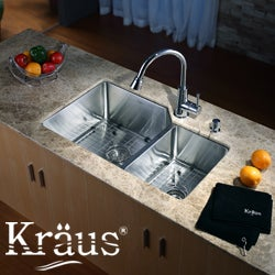 KRAUS Stainless Steel Bottom Grid with Protective Anti-Scratch Bumpers for KHF203-36 Kitchen Sink Left Bowl