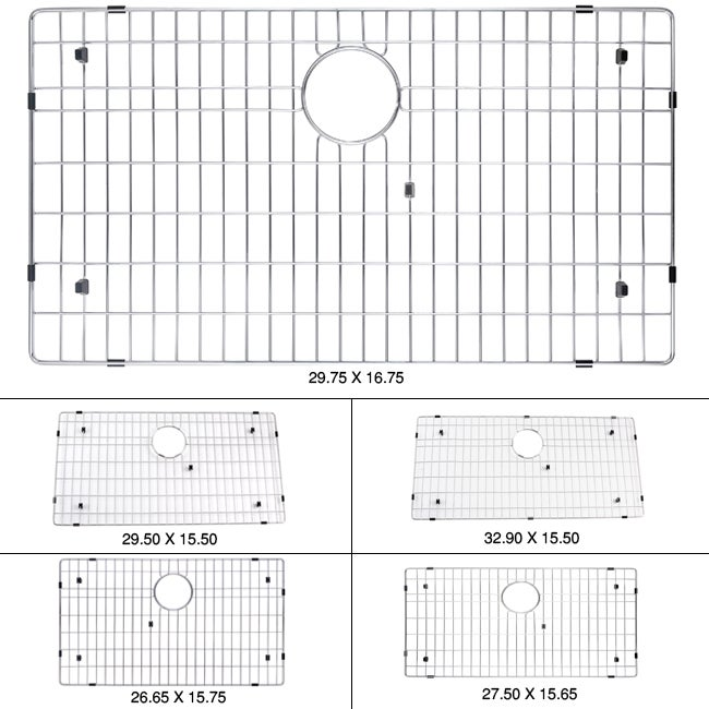 KRAUS Stainless Steel Bottom Grid with Protective Anti-Scratch Bumpers for KHU100-30 Kitchen Sink