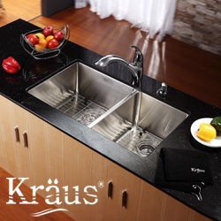 KRAUS Stainless Steel Bottom Grid with Protective Anti-Scratch Bumpers for KHU102-33 Kitchen Sink