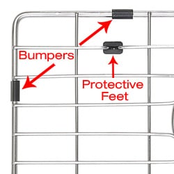 KRAUS Stainless Steel Bottom Grid with Protective Anti-Scratch Bumpers - Thumbnail 1