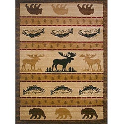 Lodge Animal Natural Area Rug (5' x 8')
