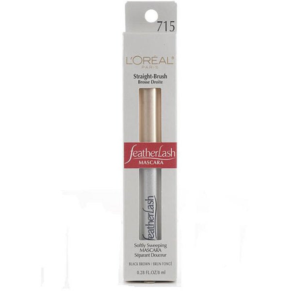 L'Oreal FeatherLash Straight Brush Black Brown Mascara (Pack of 4)