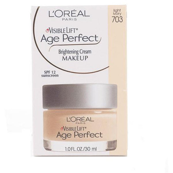 L'Oreal Age Perfect 703 Light Ivory Visible Lift Brightening Makeup (Pack of 4)